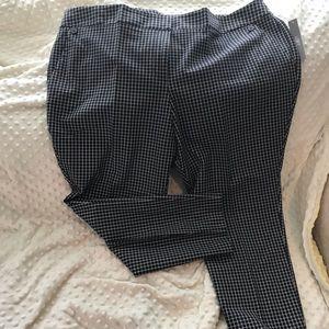 Loft skinny button plaid ankle pants